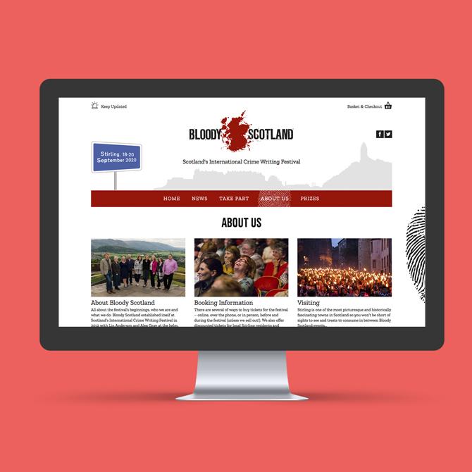 Bloody Scotland Website Design