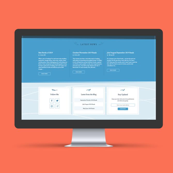 Kirsty Logan Website Design
