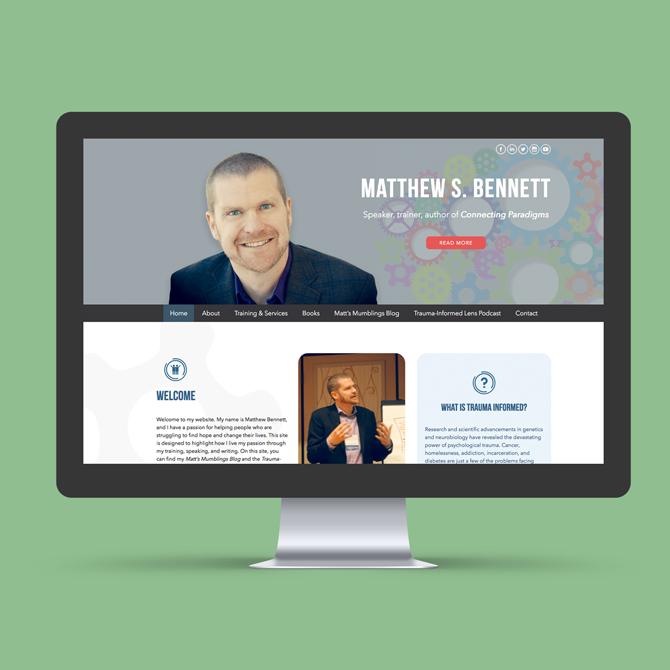 Matthew S. Bennett Website Design